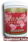 Clear-G Formula | Advanced Blood Circulation Support | Powdered Dietary Supplment Facts | Ingredients